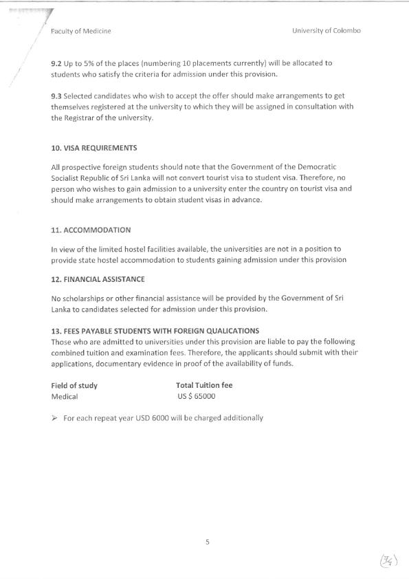 Awareness building international intake of Undergraduate programme in faculty of Medicine 005